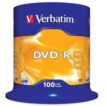 Verbatim 16x DVD-R (paquet de 100) 55,00 €